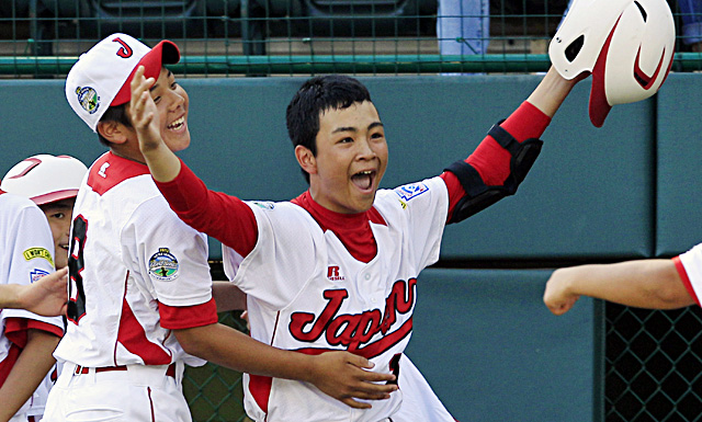 Noriatsu Osaka celebrates after hitting a  two-run home run against Tennessee in the fifth inning. (AP)
