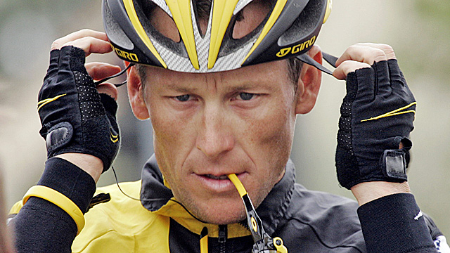 Armstrong says he's stepping down to spare Livestrong from the controversy surrounding him. (AP)