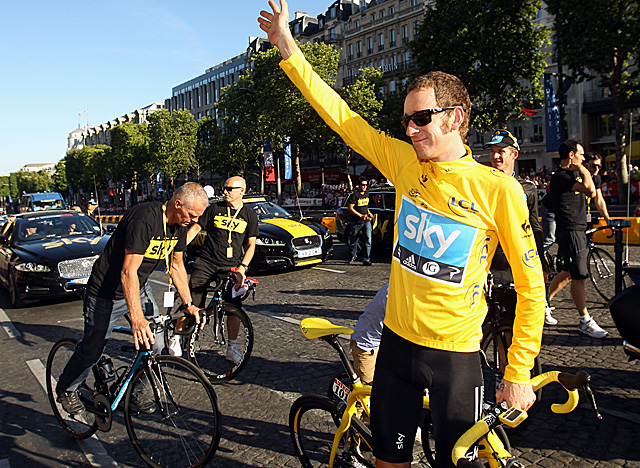 Reigning Tour de France champion Bradley Wiggins was awarded third place in the '09 race. (Getty Images)