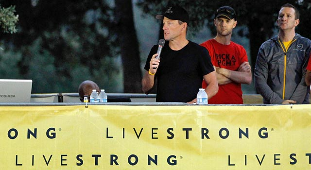 Lance Armstrong's name will no longer be associated with the popular Livestrong brand. (Getty Images)