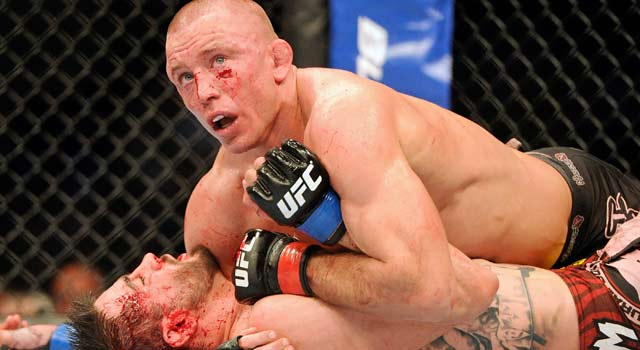 "'Credit to Carlos, he definitely gave me my toughest fight,"" St. Pierre says. (US Presswire)"