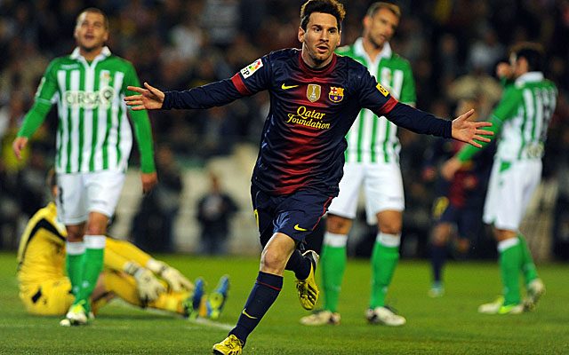 Messi tied Gerd Mueller's record in minute 16, then passed the 1972 mark nine minutes later. (Getty Images)