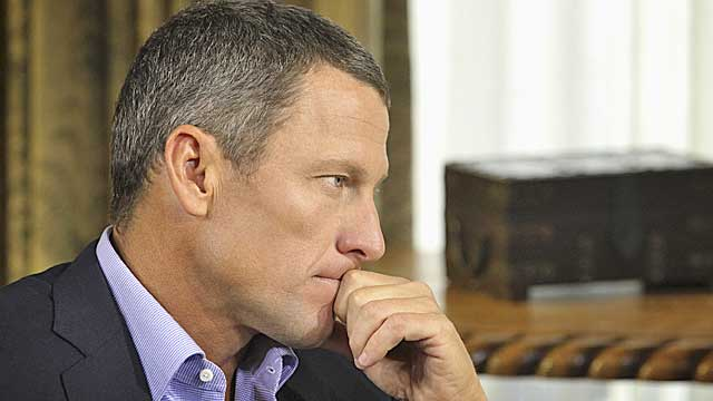 Armstrong told Oprah Winfrey he was clean when he raced the Tour de France in 2009 and 2010. (AP)