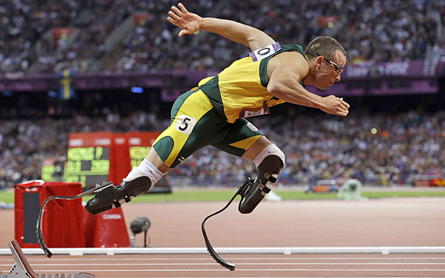 At the London Games, Oscar Pistorius became the first double amputee to compete in Olympic track. (AP)