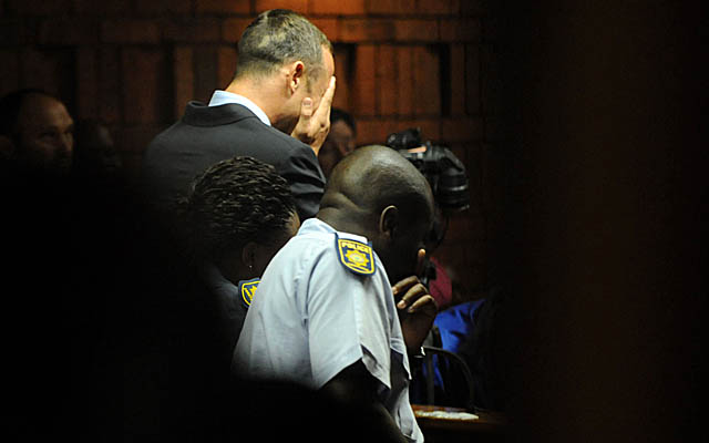 Pistorius, here at his initial hearing on Friday, will appear in court again Tuesday. (AP)