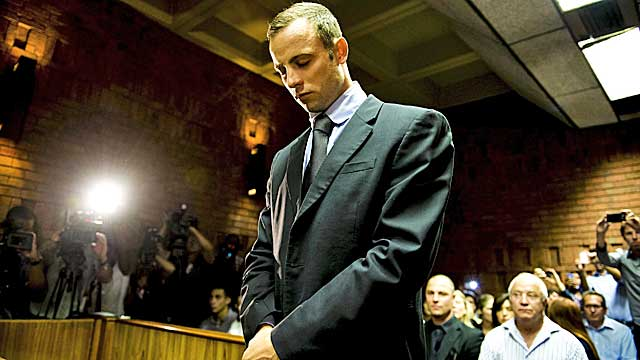 Oscar Pistorius appears at the Magistrate Court in Pretoria (Getty Images)