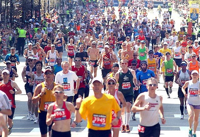 BAA officials are determined to have Boylston Street filled with runners again on April 21, 2014. (Getty Images)