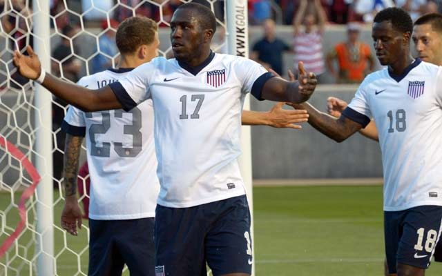 Jozy Altidore has the Americans closing in on a berth in next year's World Cup. (USATSI)