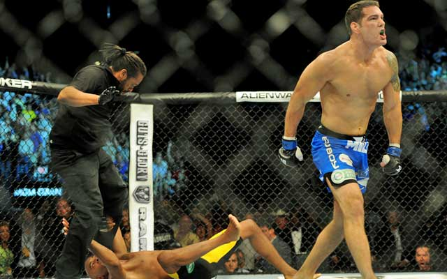 Chris Weidman improves to 10-0 while ending Anderson Silva's nearly 7-year run as middleweight champ. (USATSI)
