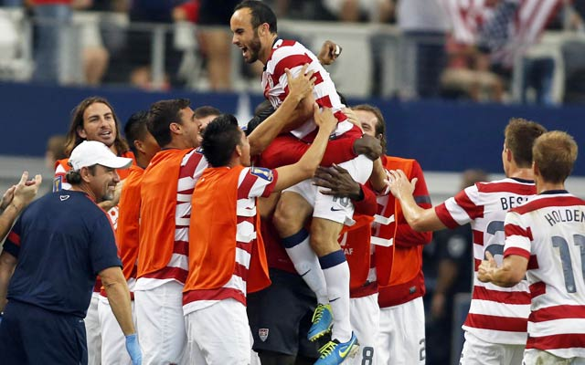 Landon Donovan plays a role in all three goals in the USA's 10th straight win. (USATSI)