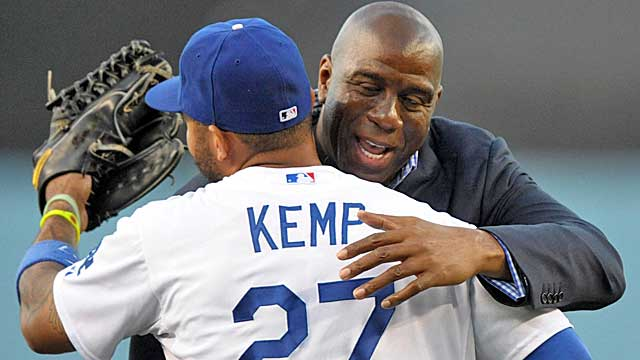 As an owner of the Dodgers, Magic Johnson has not slowed down because of HIV. (USATSI)