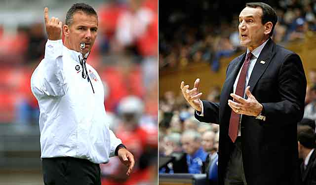 Urban Meyer and Mike Krzyzewski make legit points. Will it matter? Probably not. (USATSI)