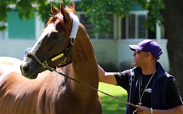 California Chrome is a win away from horse racing's Triple Crown.  (USATSI)