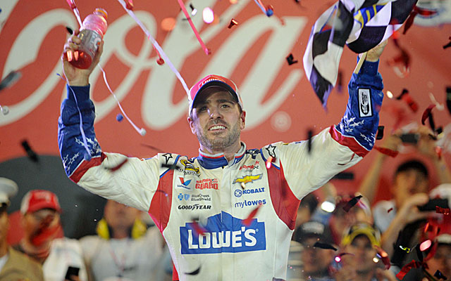 Jimmie Johnson gets his first win of the season in the Coca-Cola 600 at Charlotte. (USATSI)