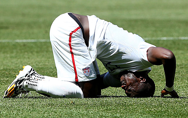 Jozy Altidore had his problems Sunday, but the US defense had more.  (Getty)