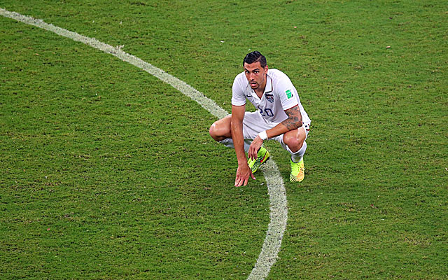 Sunday's tie with Portugal isn't Geoff Cameron's finest moment. (Getty)