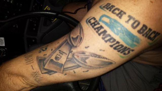 look diehard seahawks fan gets a ridiculous super bowl tattoo