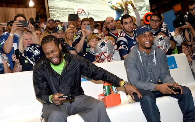 Richard Sherman will not go down easily in a game of Madden.  (Getty Images)