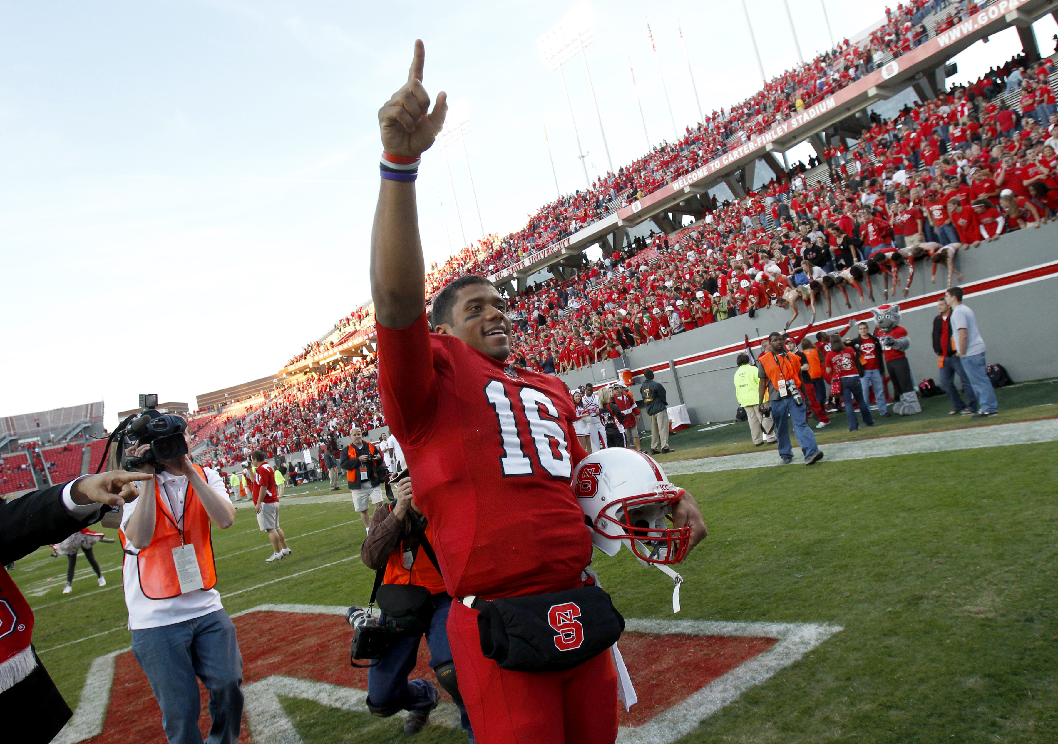 Russell Wilson was a two-star prospect when he committed to NC State in 2006.  (Getty Images)