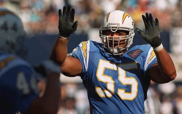 Junior Seau was was named NFL Defensive Player of the Year in 1992.  (Getty Images)