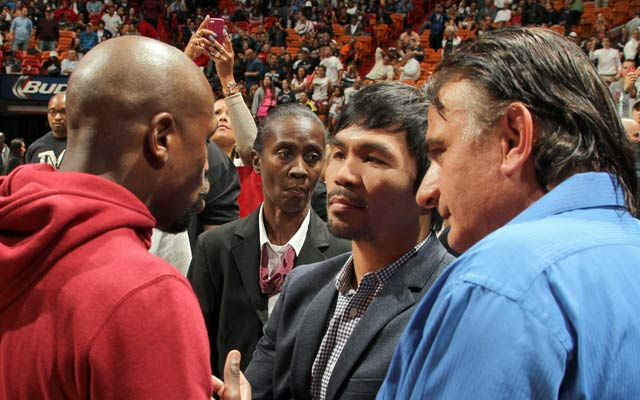 A May 2 date for a potential Pacquiao-Mayweather bout is in jeopardy. (Getty Images)