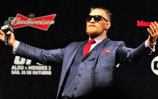 UFC's Conor McGregor doesn't feat Floyd Mayweather at all. (USATSI)
