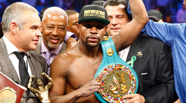 Mayweather wins decision