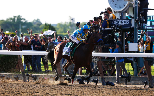 American Pharoah completed the Triple Crown on Saturday, winning the Belmont Stakes. (USATSI)