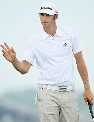 'I don't look too much behind me. I look forward,' Dustin Johnson says. (Getty Images)