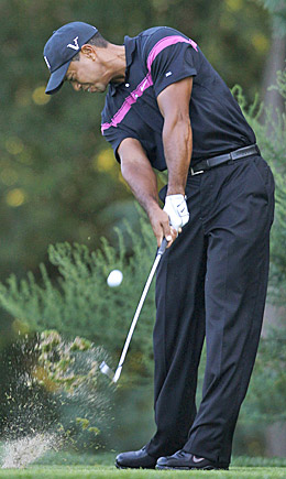 Tiger Woods' success off the tee leads to more good things in the first round. (AP)