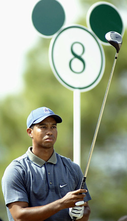 The tour event at Disney hasn't seen the likes of Tiger Woods in a number of years. (Getty Images)