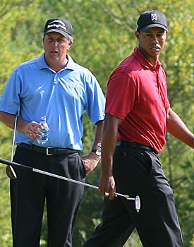 Mickelson turned the tables on Tiger at TPC Boston in 2007. (Getty Images)