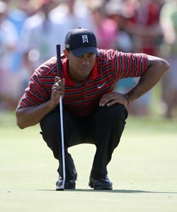 Tiger Woods has changed putter models this spring trying to fix what was once the most feared part of his game. (Getty Images)