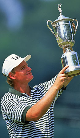 Ernie Els was hardly a household name when he won his first U.S. Open championship, at Oakmont in 1994. (Getty Images)