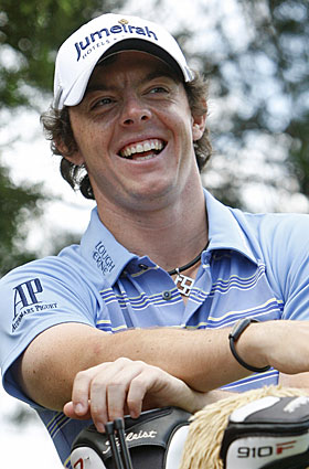 The list of records bested by Rory McIlroy in the second round is certainly worth a smile. (AP)