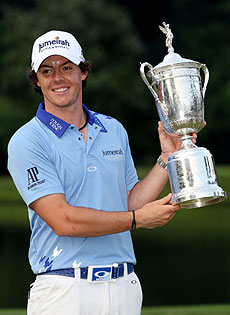 McIlroy, 22, broke the U.S. Open tournament record by four shots. (Getty Images)
