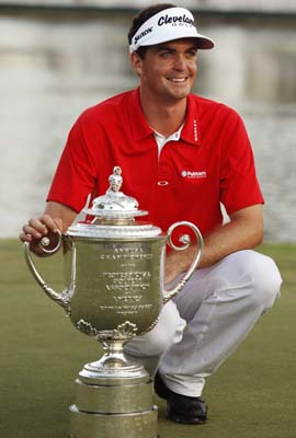 The Wanamaker Trophy is a nice prize for Keegan Bradley, earning just his second victory as a professional. (AP)