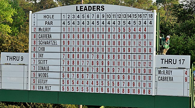 When the numbers stopped spinning, eight players had been in or shared the Sunday lead. (Getty Images)