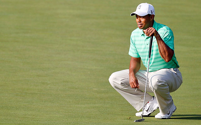 Tiger Woods' putting prowess at Augusta has waned over the years, leading to a title drought. (Getty Images)