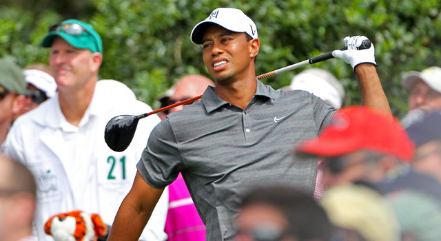 'I hit some of the worst shots I ever hit today,' Woods says. (Getty Images)