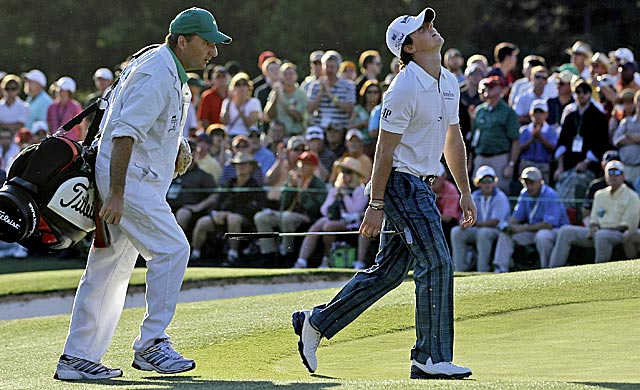 Rory McIlroy stays on top despite more Masters misadventures. (AP)