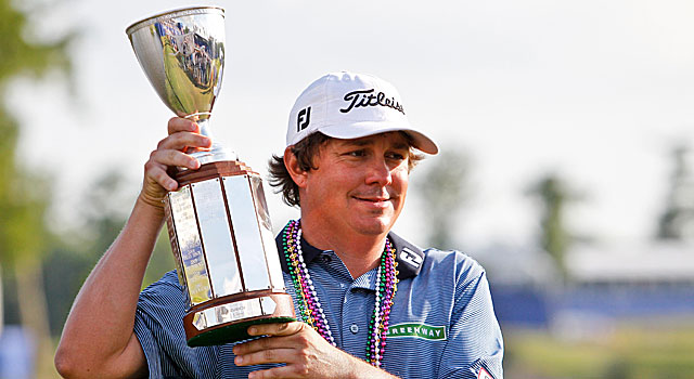 Jason Dufner was 0-2 in playoff rounds before winning the Zurich Classic in sudden death. (US Presswire)
