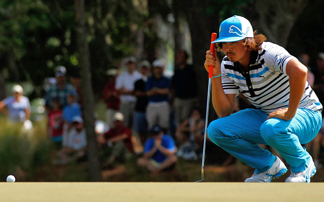Rickie Fowler records a 6-under 66, the best round of the day at TPC Sawgrass. (Getty Images)