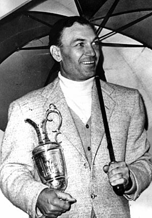 A victory in the 1953 British Open at Carnoustie was one of Hogan's nine majors. (Getty Images)