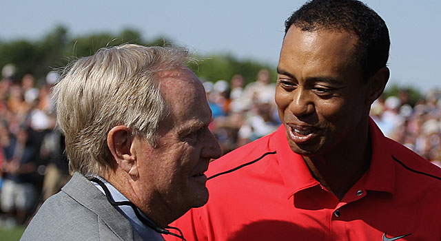 Tiger reaches the 73-win mark 10 years and two days faster than Jack Nicklaus. (AP)