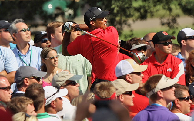 At long last, remarkable shots and reliable drives were in the script for Tiger Woods on Sunday. (Getty Images)