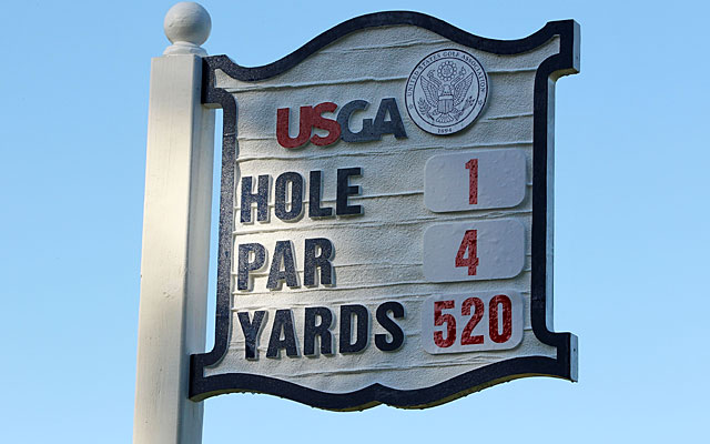 That's right -- the first hole at Olympic, formerly a par 5, is now a par-4, 520-yard test. (Getty Images)