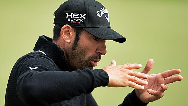 'I'm probably going to be missing this green,' Quiros says after making his albatros. (AP)