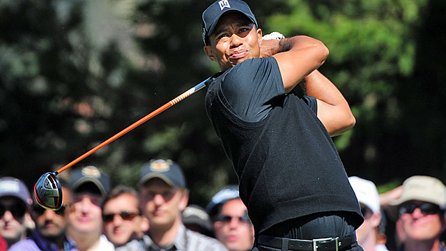 Entering the weekend, Tiger Woods is in contention for his 15th major title. (US Presswire)