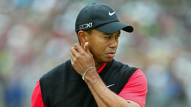 Tiger enters the final round six shots over par and fails to do any better on Sunday. (Getty Images)